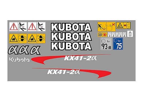 Kubota Kx41 2 Complete Decal Set 187 Amc Machinery Decals