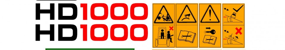TEREX HD1000 960x170 terex hd1000 dumper decal set amc machinery decals terex hd1000 wiring diagram at gsmx.co