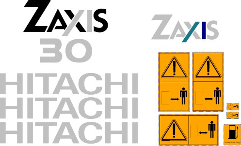 Hitachi Zaxis 30 Decal Set 187 Amc Machinery Decals