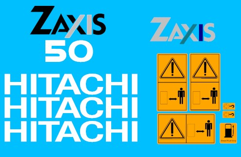 Hitachi Zaxis 50 Decal Set 187 Amc Machinery Decals