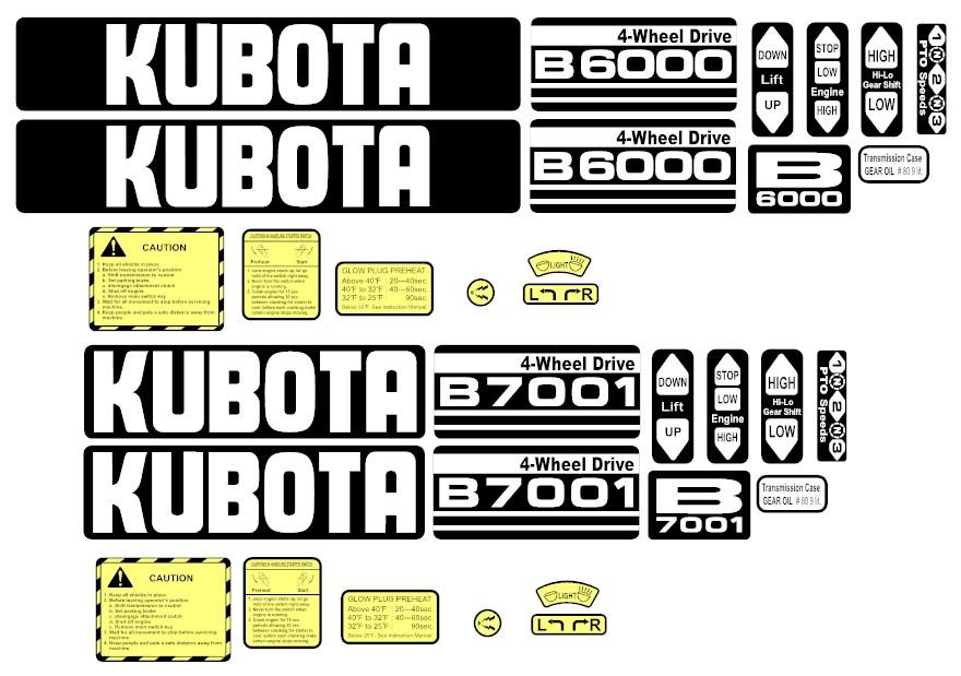 Kubota Decal Kits : Kubota safety stickers satu sticker