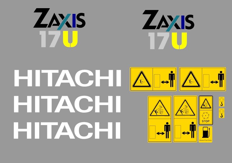 Hitachi Zaxis 17u 2 187 Amc Machinery Decals