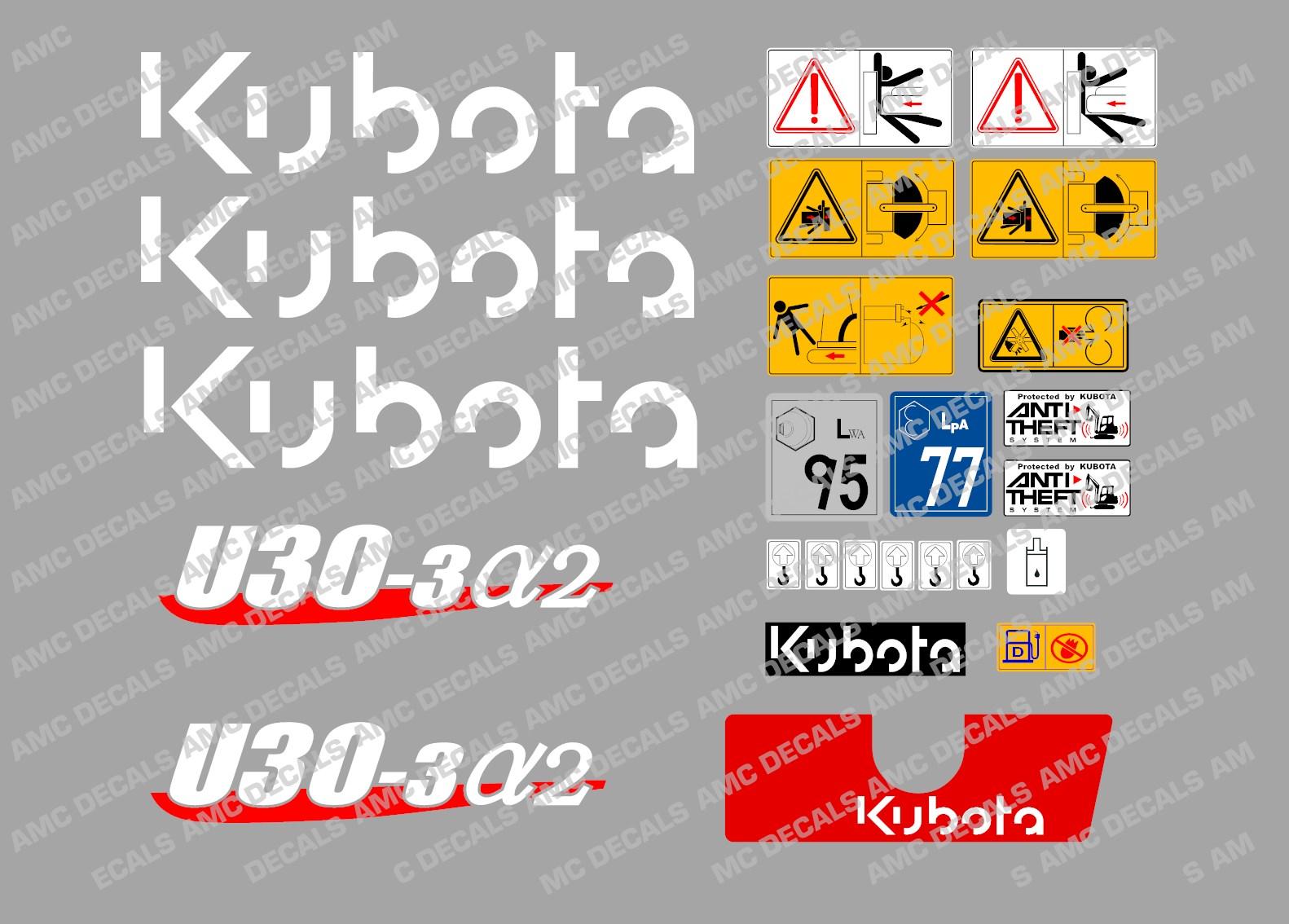 Kubota Decal Kits : Kubota stickers decals satu sticker